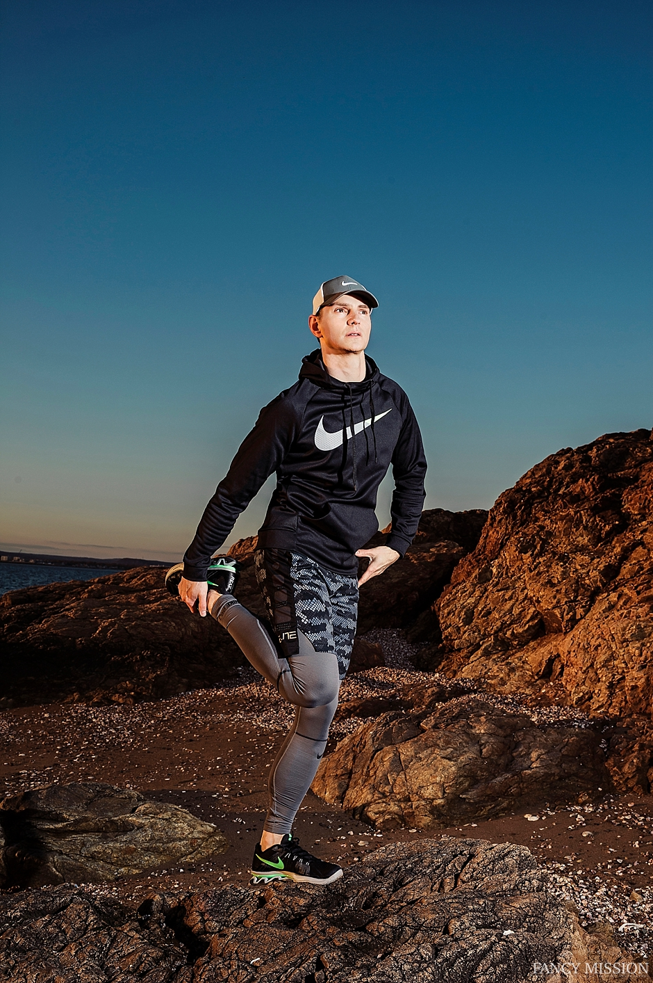 fitness goals at sunrise with nike fashion - Fancy Mission Hubert Kopec