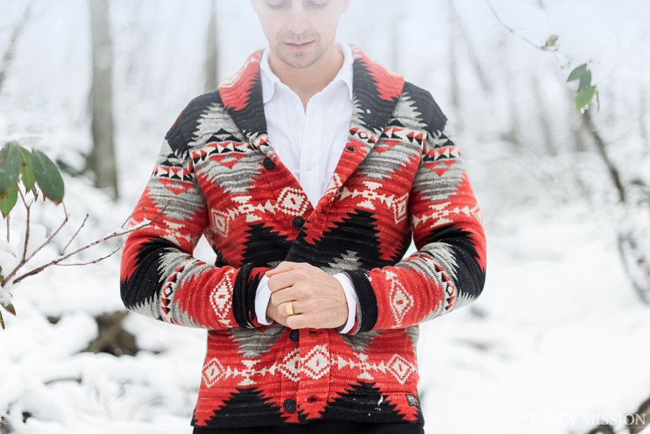 Snow Fashion Shoot for Men